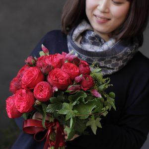 バレンタインに贈る花束