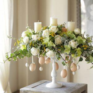 イースターの花飾り