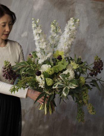 高さのある花束